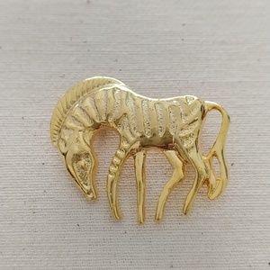 Jewelry - Stylized Zebra Pin